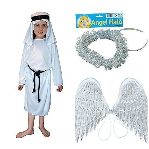 5f92464e42 Halo Costumes For Girls   Boys-Girls-Angel-Christmas-School-Play ...