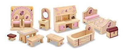 CHILDRENS CHILD MELISSA AND DOUG PRINCESS CASTLE DOLLS HOUSE FURNITURE