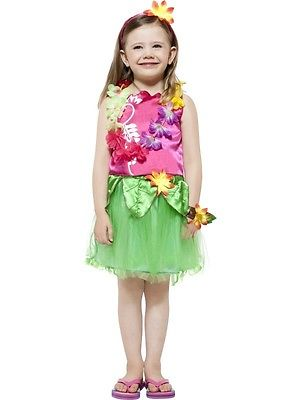 HULA HULA HAWAIIAN GIRLS COMPLETE FANCY DRESS COSTUME
