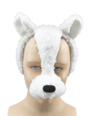 LAMB SHEEP MASK WITH SOUND FANCY DRESS COSTUME